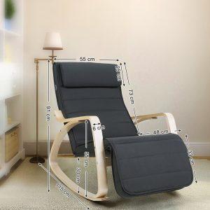 Butaca silla mecedora SONGMICS LYY10G barata precio ofertas