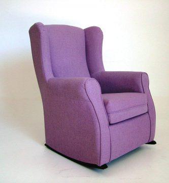 Sillón de lactancia SUENOSZZZ lila de perfil balancín silla