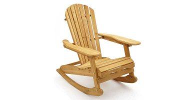 Mecedora de madera de pino natural Trueshopping barata baratas precio precio barato baratos sillón silla butaca balancín comprar